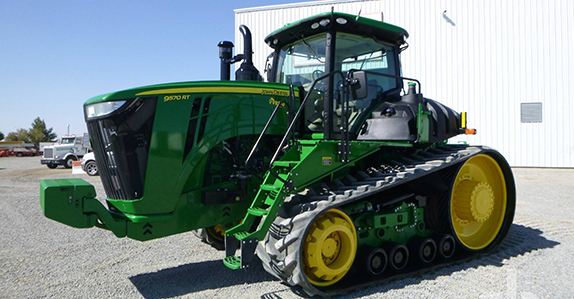 2016 John Deere 9570RT track tractor sold by Ritchie Bros.