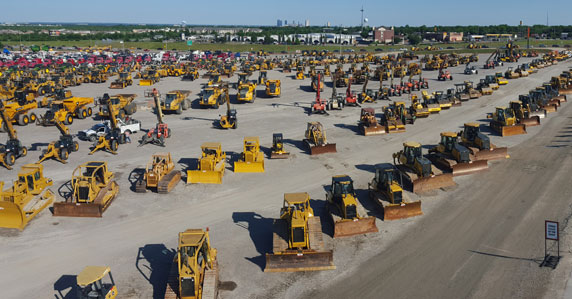 Equipment in Ft Worth auction yard